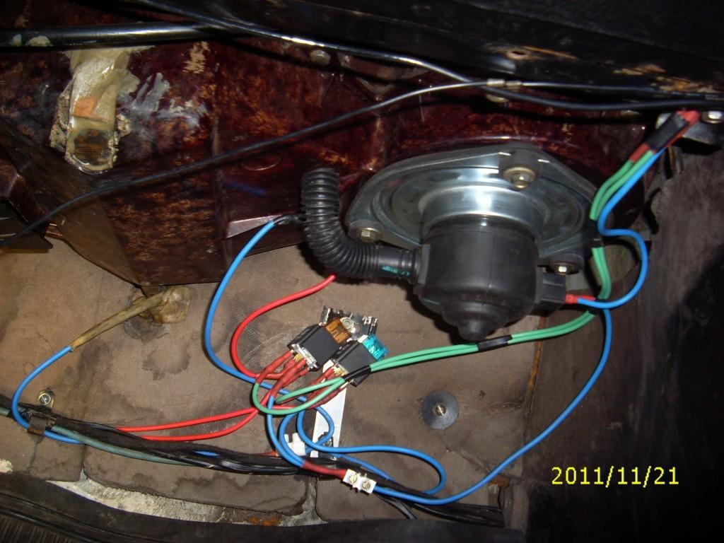 ваз 2101 схема подключения вентилятора отопителя